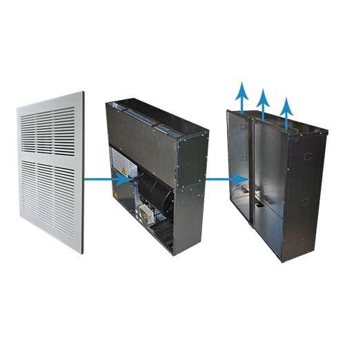 ICS-3200 deumidificatori da incasso a parete con mandata verticale